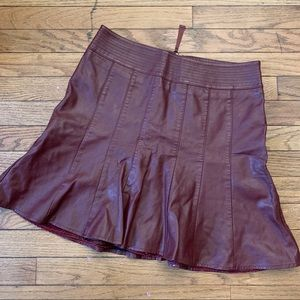 Beautiful Faux Leather Skirt